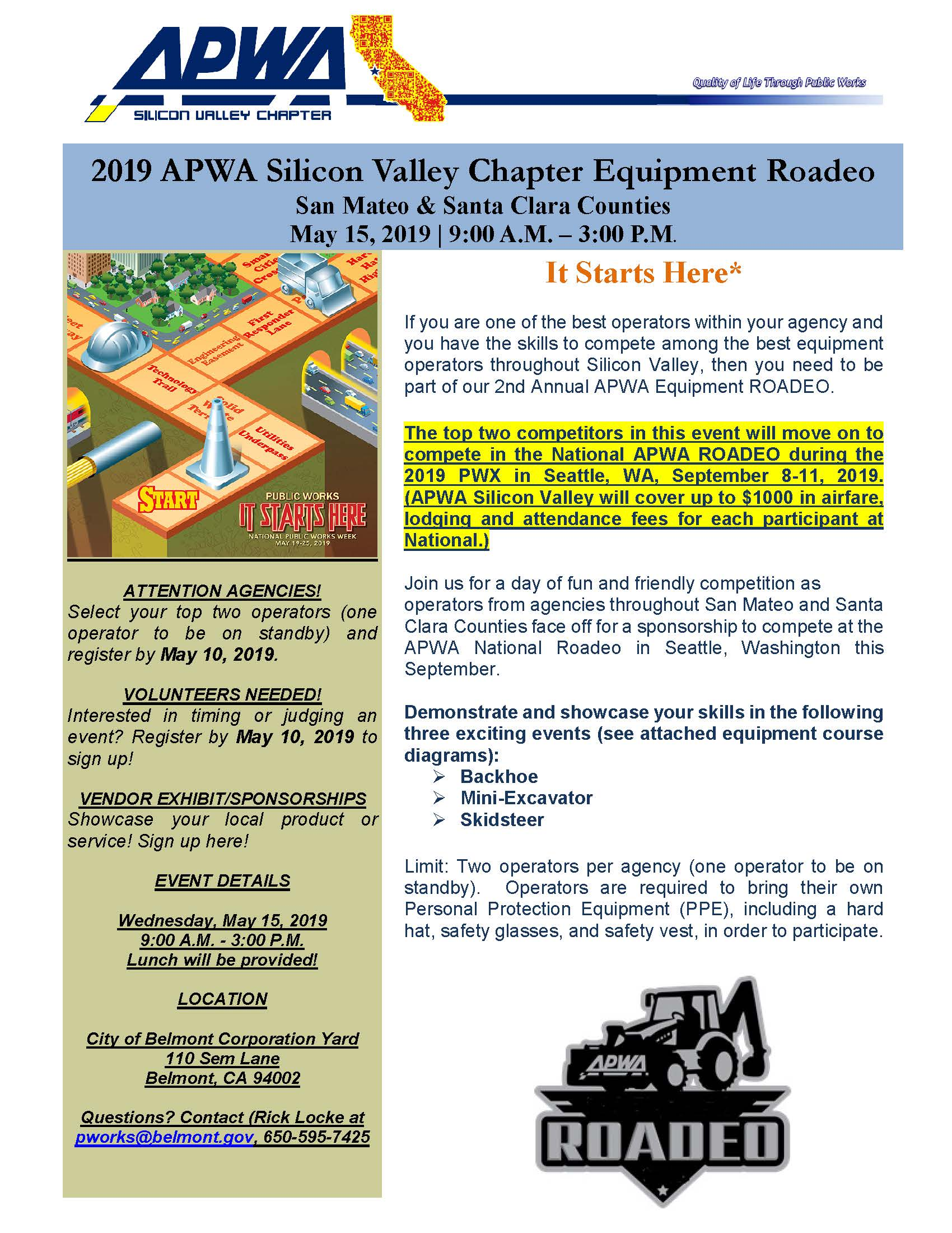 2019 APWA Silicon Valley Chapter Equipment Rodeo